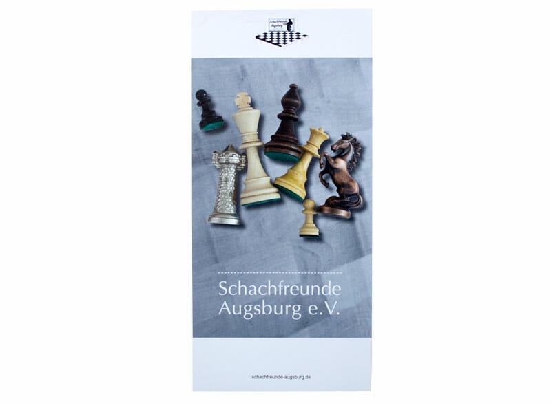 Printdesign Schachfreunde Augsburg e.V. Flyer