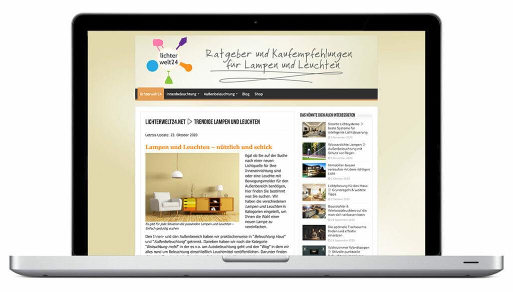 Webdesign Augsburg lichterwelt24.net
